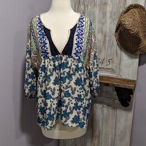 Gibson Latimer boho popover blouse